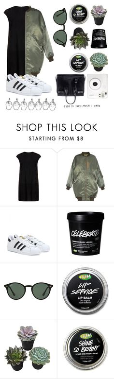 """Basic"" by lolobell-01 ❤ liked on Polyvore featuring MuuBaa, R13, adidas, Ray-Ban and Fuji"