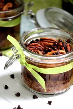Big Bears Wife: Chocolate Chip Pecan Pie in a Jar + Links to other Desserts in Jars Recipes