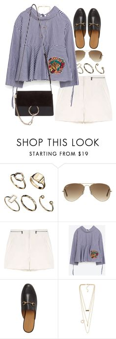 """""""Untitled #10275"""" by nikka-phillips ❤ liked on Polyvore featuring ASOS, Ray-Ban, Proenza Schouler, Gucci, NLY Accessories and Chloé"""