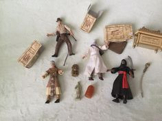 Normal wear but not much. No chews or broken parts. Robe is a bit dingy and cardboard treasure boxes are a bit worn but that's is to expected. Non-smoking. Treasure Boxes, Indiana Jones, Smoking, Action Figures, Dress, Tobacco Smoking, Vaping, Smoke, Cigar