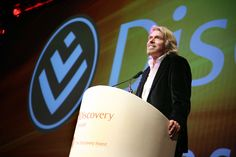 Richard Branson live at the 2009 Discovery Leadership Summit.