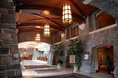 The Banff Springs Hotel -- I stayed here and it is full of history and incredible views and spa services.