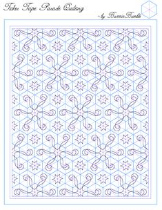 template for a one block wonder quilting design.  others on this page.