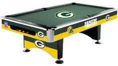 Green Bay Packers Pool Table - This would be awesome for the basement when we get it finishe :)