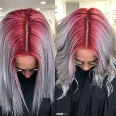 //12:46 pm// @jettelag  ig : idfcemely Pastel Hair, Pink Hair, Dye My Hair, Rainbow Hair, Beautiful Hair Color, Cool Hair Color, Bunt, Hair Inspo, Hair Inspiration
