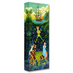 Peter Pan ''The Hero of Never Land'' Giclée by Tim Rogerson | Disney Store