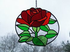 Stained Glass Rose, Unique Wedding Gift, Unique Anniversary Gift, Serendipity Gift, OOAK