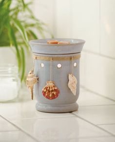"""Montauk"" a Premium Full-sized warmer. A safe, wickless, flameless, smokeless alternative to scented candles."