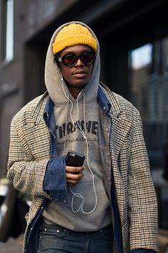 Mens Fashion Week, Dope Fashion, New York Fashion, Fashion Outfits, Stylish Men, Men Casual, Men Street, Street Fashion Men, High Fashion Men