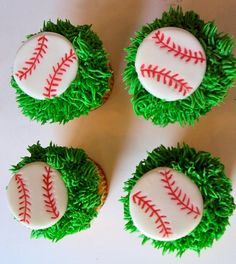 The baseballs look like Oreos that have been dipped in white candy coat.