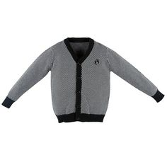 Hang Ten Gold, Crash Landing Check Cotton Cardigan, 5y black/white v-neck. button closure. fits true to size. machine wash cold, line dry.  #Hang_Ten_Gold #Apparel