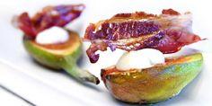 Fiken med supersprøtt bacon - Denne forreten er morsom å lage og er kjempegod som starten på et bedre måltid. Salt bacon og søt fiken - helt...