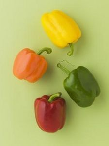 Bell peppers start out as green.