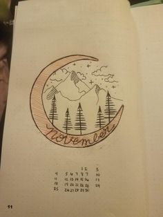 I set up my spreads pretty far in advance, here is my spread for November inspired by a cover of a bujo I saw here, I'm pretty happy with it! : bulletjournal