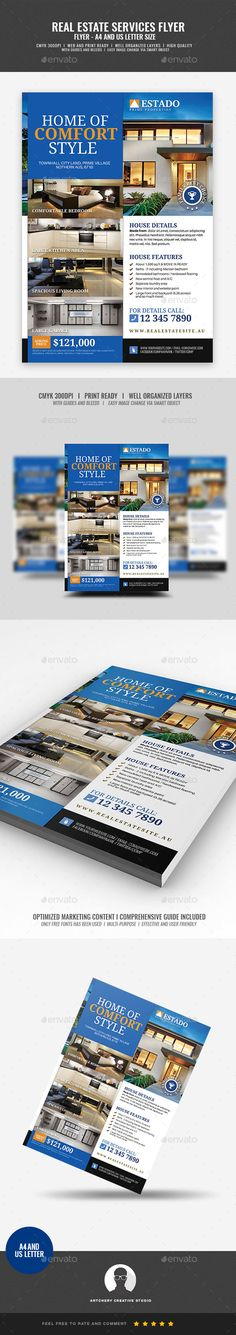 #Modern #and #Corporate Real Estate Flyer - Corporate Flyers
