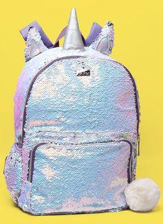 Pretty Backpacks, Cute Mini Backpacks, Girl Backpacks, Unicorn Fashion, Unicorn Outfit, Pusheen Backpack, Mini Mochila, Cute School Supplies, Small Backpack