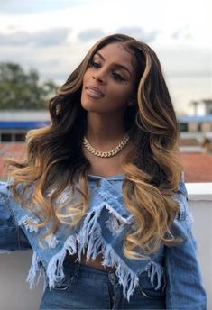 877 hot long wavy hairstyles lace front wigs human hair wigs african american wigs for black women - My list of the most beautiful women's hair styles Ombre Blond, Blonde Wig, Frontal Hairstyles, Wig Hairstyles, Black Hairstyles, Teenage Hairstyles, Medium Hairstyles, Hairstyles Videos, Simple Hairstyles