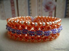 Peach Perfect glasparel armband op Etsy, 10,00€