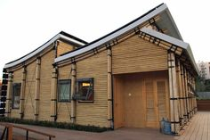 'Bamboo house' aka Sunshine Inn-complete with solar panels that generate enough energy to sustain the house.