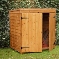 1000 images about lawnmower storage on pinterest for Small lawnmower shed