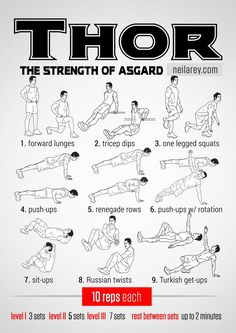 Thor workout: the Strength of Asgard #fitness #workout #workoutroutine #fitspiration