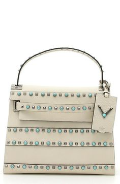 Valentino 'My Rockstud - Alce' Embellished Leather Satchel available at #Nordstrom