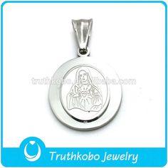 christian prayers pendant in stainless steel wholesale price virgen de guadalupe virgen pendant