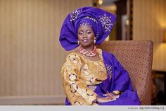10 Stunning Blue Aso-Oke Colours & Design For Traditional Engagement Wedding |