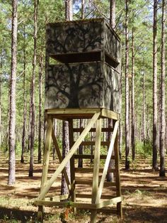 Deer Hunting: 20 Free DIY Deer Stand Plans and Ideas Perfect for Hunting Season.