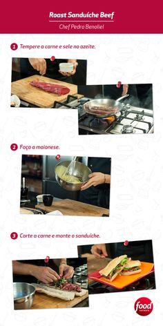 Quer surpreender seus amigos? Que tal preparar esse Roast Sanduíche Beef do Pedro Benoliel?