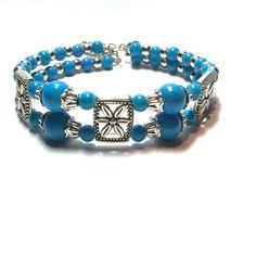 Blue and silver bracelet Blue and silver bracelet adjustable Jewelry Bracelets