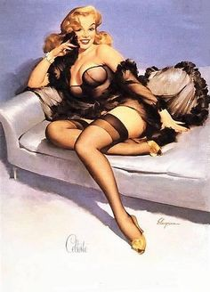"""""""Celeste"""", 1958 by Gil Elvgren ❥