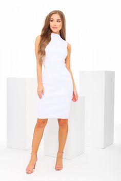 Biele priliehavé šaty Kate