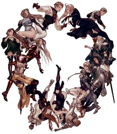 Character Classes from Tactics Ogre: Let Us Cling Together