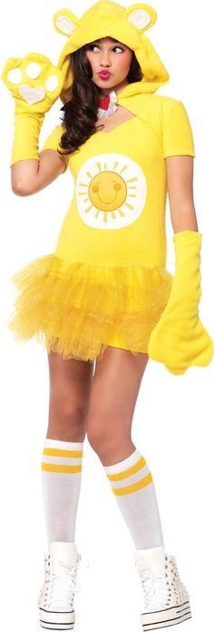 Teen Girls Funshine Bear Costume - Care Bears - Party City