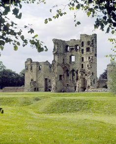 Part of the ruins of  Ashby de la Zouch Castle, Leicestershire, England. The property began as a manor house in the 12th century and reached castle status by the 15th. Visitors can still climb the tower today despite it suffering massive damage during the Civil War. .