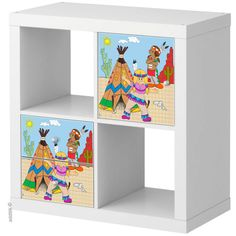 """Stickers for door or drawers Expedit Ikea """"Indiens"""" $12"""