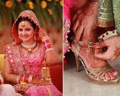 Indian bride dulhan lehenga makeup desi