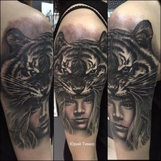 Tiger Woman Tattoo By Yury Limited Availability At Redemption Studio