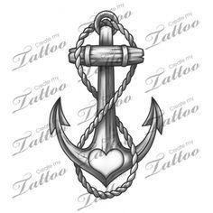 Marketplace Tattoo Anchor #19687   CreateMyTattoo.com