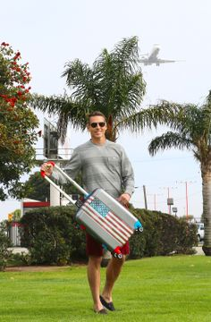 Ugobags at the airport! #losangeles #California #ugobags #travel #style #america #american #airplane #airport #luggage #different #newproduct #Cali #design #customize #photography #trip #fly #bags www.ugobags.com