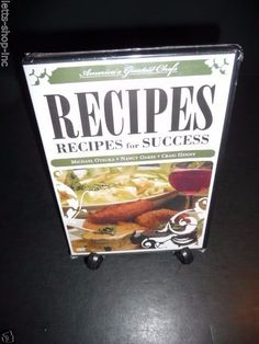 America's Greatest Chefs Recipes Recipes For Success  (Dvd,2008) New Sealed