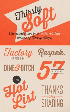 Typeverything.com - New Thirsty Soft Font only $9! Save 80% off...