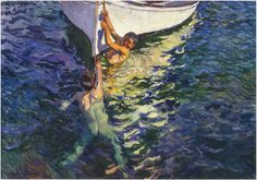 '' The White Boat,''  1905 by Joaquin Sorolla y Bastida (1863 –1923)