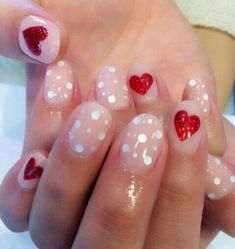 Valentines day Nails! Just so girly! Can't wait to try it out! #valentine #spadelic