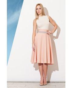 Spódnica Figl - kolor różowy