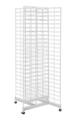 White 4 Way Slat Grid Rack with Base & Casters Hardware Components, Store Supply, Art Storage, Craft Show Ideas, Quality Furniture, Blinds, Grid, Base, Display
