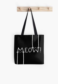 Black and white, meow! • Also Available as T-Shirts & Hoodies, Men's Apparels, Women's Apparels, Stickers, iPhone Cases, Samsung Galaxy Cases, Posters, Home Decors, Tote Bags, Pouches, Prints, Cards, Mini Skirts, Scarves, iPad Cases, Laptop Skins, Drawstring Bags, Laptop Sleeves, and Stationeries #style #bags #handbags #fashion #design #accessories #cats
