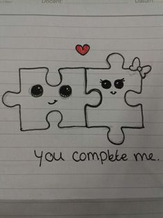 ▷ ideas for cute easy drawings to improve your concentration Tumblr Drawings, Funny Drawings, Pencil Art Drawings, Skull Drawings, Drawing Sketches, Cute Drawings Of Love, Cute Couple Drawings, Drawings About Love, Sketches Of Love