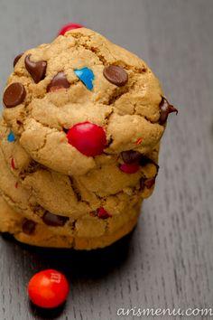 Pretzel M Peanut Butter Cookies